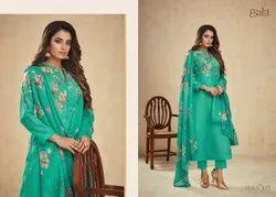 Unstitched Ladies Printed Salwar Kameez Suit For Womens