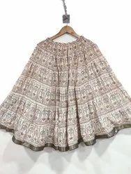 Girls Cotton Printed Skirt