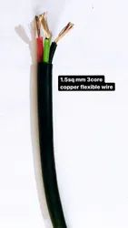1.5sqmm 3 Core Copper Flexible Wire, 90 m