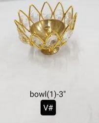 Crystal Bowl Shape Candle Holder