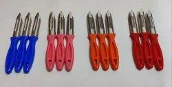 Multicolor Stainless Steel Potato Peeler Knife, For Kitchen