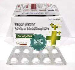 Teneligliptin 20mg+Metformin Hydrochloride 500mg (ER) Tablet