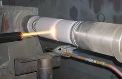 Tungsten Carbide Coating on Shaft
