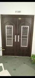Swing mild steel Decorative Metal Safety Door, For Residential