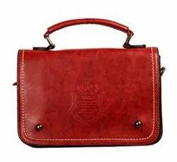 Louise Belgium Red Ladies Designer Sling Bag, For Casual Wear, 300 Gram