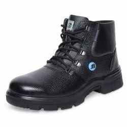 High Cut Bata Black Safety Shoes