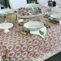 Sanganeri Hand Block Printed Floral Indian Cotton Table Linen