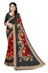 Pehnava Nx Multicolor Banarasi Silk Designer Jacquard Saree, 6.3 m (With Blouse Piece)