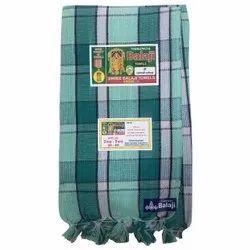 Checkered Balaji Cotton Towel, Rectangular, Size: 30x60inch