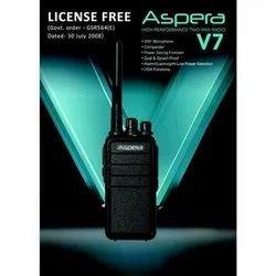 Aspera V7 Pmr446 License Free Walkie Talkie