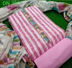 Cotton Ladies Regular Printed Unstitched Suit