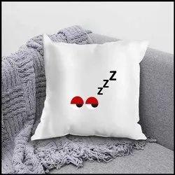 Ikraft Cushion Cover ( Without Filler) Design - Sleepy Eyes