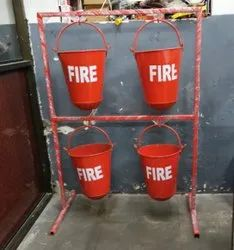 Fire Bucket Stand For 4 Bucket