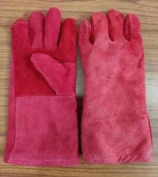 Leather Hand Gloves Single Colour