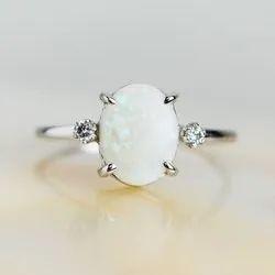 Natural Opal Gemstone Ring
