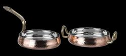 Copper Steel Hammered Belly Pan Portion Dishes