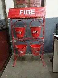 Fire Stand With Bucket With Canopy