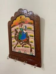 MDF Hand Painted Key Chain Holder for Wedding Gift