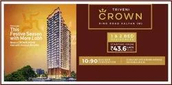 Triveni Crown Luxurious 1 & 2 BHK Apartments for sale In Kalyan