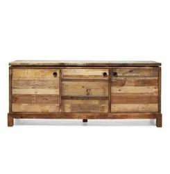 Natural Reclaimed Wooden Sideboard, Drawers: 3, Size: 160x40x60