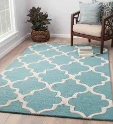 For Home Blue,White Hand Tufted Floor Carpets