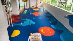 Multicolor Color Coated Kids Rubber Flooring