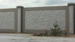 10 feet Boundary Compound wall