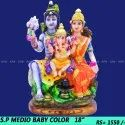 Marble Shiv Parivar medio color