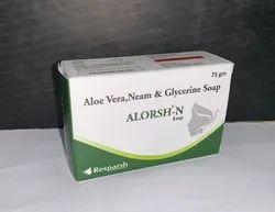 Aloevera 1% + Neem Oil 0.5%  Soap