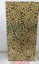 Gold mosaic tiles kitchen