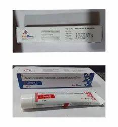 Ofloxacin, Orindazole, Itraconazole,Clobetasol  cream