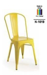 Steel Fab Yellow N-1019 Fix Type Chair, For Cafe