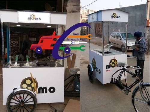White Momo' s Cart With Small Tandoor