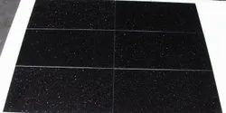 Polished Black Galaxy Granite Tile 60 30, Outdoor, Thickness: 15-20 mm