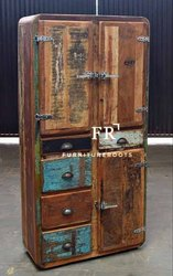 Resort Furniture Cabinets - Designer Shabby Chic Hutch Cabinet - Designer Hotel Cabinet Furniture
