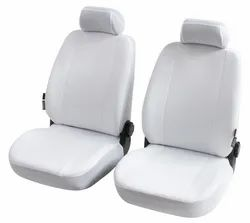 Front White Cotton Car Seat Cover