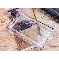 Plastic Notebook Water Bottle, Capacity: 450 ml, Size: A6