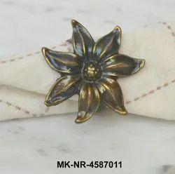 MKI Metal Flower Napkin Ring, Size: Dia. 1.75 inch