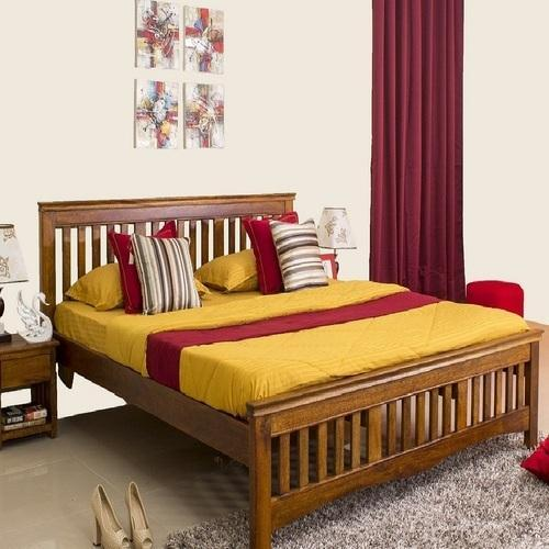 Marko Solid Wood Queen Bed Without Storage