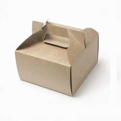 15K Half Kg Kraft Cake Box with Handle