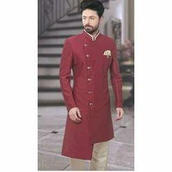 Large And Extra Large Maroon And Golden Designer Jodhpuri Suit