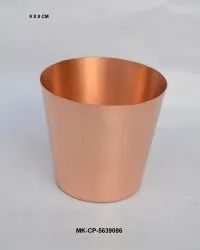 Plain Copper Wax Glass, Lacquered