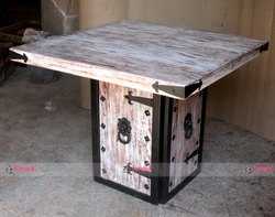 Iron and Wooden Table - Industrial Restaurant Furniture