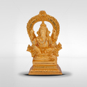 Golden Gold Plated Ganesh With Arch