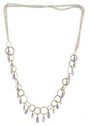Gold Plated Amethyst Gemstone Necklace