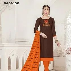 Resham Work Dress Material