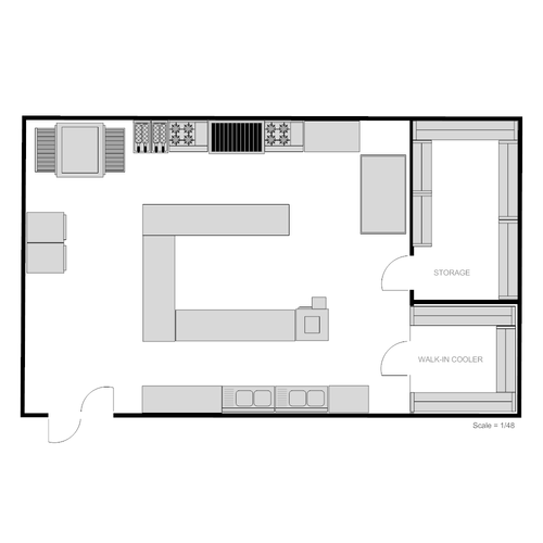 Sample Kitchen Floor Plans: Commercial Kitchen Planning Services