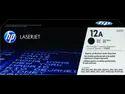 HP 12A Black Original LaserJet Toner Cartridge (Q2612A) Single Color Ink Toner  (Black)