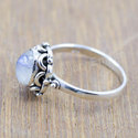 Silver Jewelry Boho Ring Moonstone Gemstone Ring
