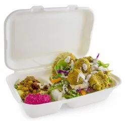 Sugarcane Bagasse Disposable Lunch Boxes